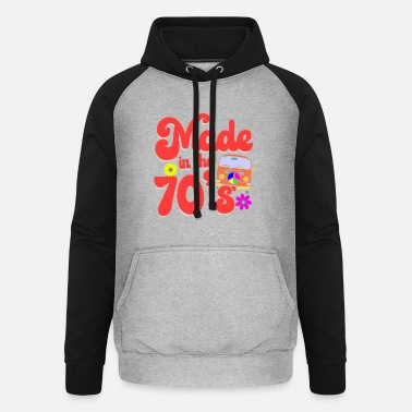 70 Made in the 70 s - seventies hippie retro - Unisex Baseball Hoodie