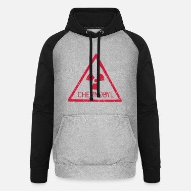 Tschernobyl TSCHERNOBYL RADIATION WARNING ICON - Unisex Baseball Hoodie