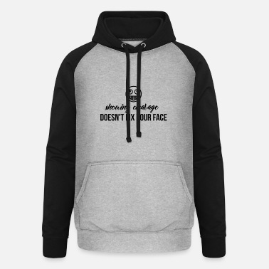 Cleavage Showing cleavage - Unisex Baseball Hoodie