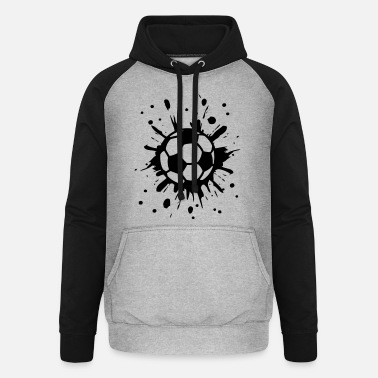 League Cool 2014 Football, Splash, Soccer, Splatter, - Unisex Baseball Hoodie