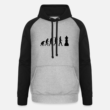 Chess Board Chess Evolution Chess Piece Gift - Unisex Baseball Hoodie