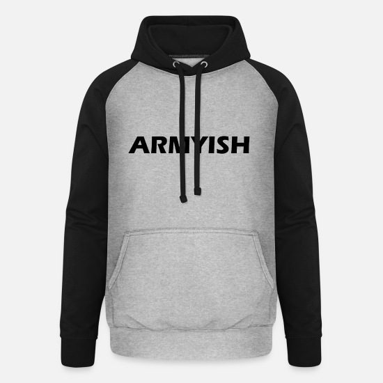 Birthday Hoodies & Sweatshirts - army - Unisex Baseball Hoodie heather grey/black