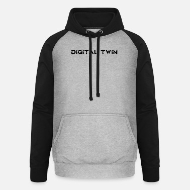 Lambda Digital twin gift for computer scientist - Unisex Baseball Hoodie