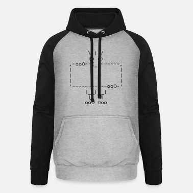 Html ascii art: troll + your text - Sweat à capuche baseball unisexe