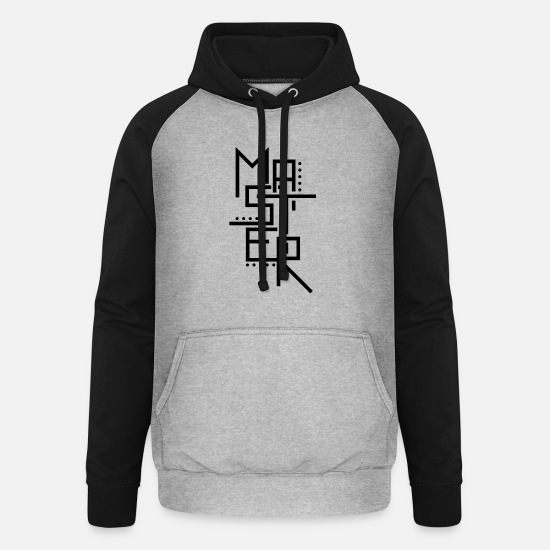 Gift Idea Hoodies & Sweatshirts - master - Unisex Baseball Hoodie heather grey/black