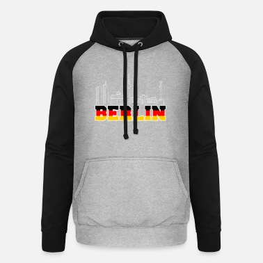 Skyline Berlin skyline Germany - Unisex Baseball Hoodie