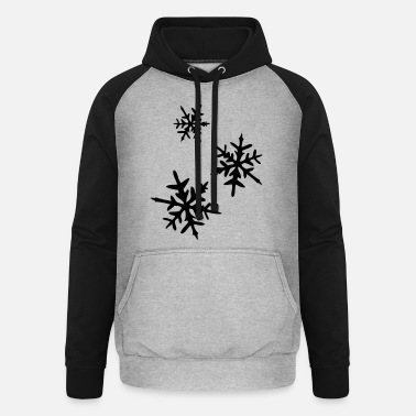 Ice Crystal Ice Crystal - Unisex Baseball Hoodie
