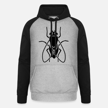 Fly Insect - fly - Unisex Baseball Hoodie