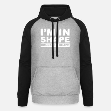 Shape round shape beautiful cool gift - Unisex Baseball Hoodie