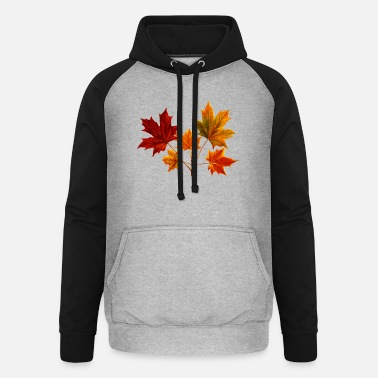 Leaf Maple Maple Leaf Maple Leaves - Unisex Baseball Hoodie