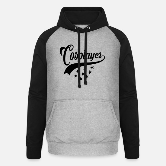 Cosplay Hoodies & Sweatshirts - Cosplayer, Cosplay - Unisex Baseball Hoodie heather grey/black