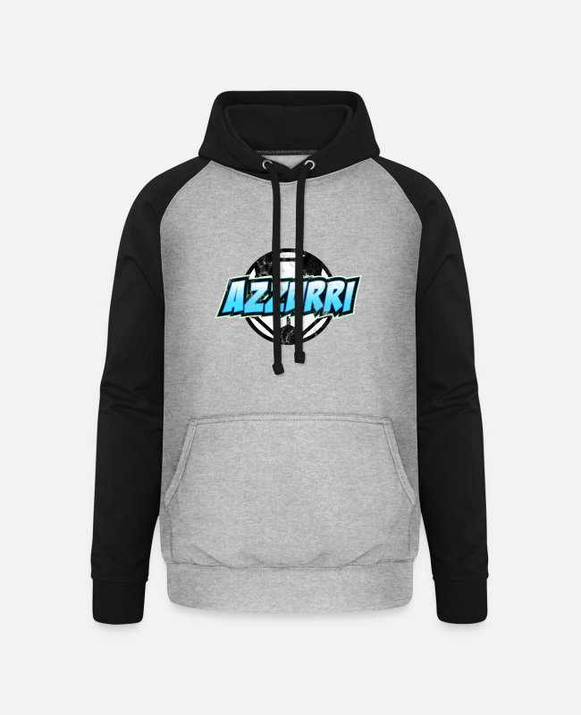 Italian Hoodies & Sweatshirts - Azzurri Italy football - Unisex Baseball Hoodie heather grey/black