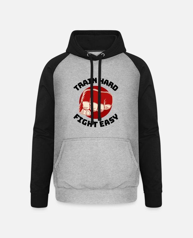 Training Hoodies & Sweatshirts - martial arts outfit cool martial arts tshirt t - Unisex Baseball Hoodie heather grey/black