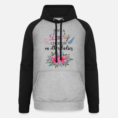 Just A Lady Cheerin 'On Other Ladies Best Friends - Unisex baseball hoodie