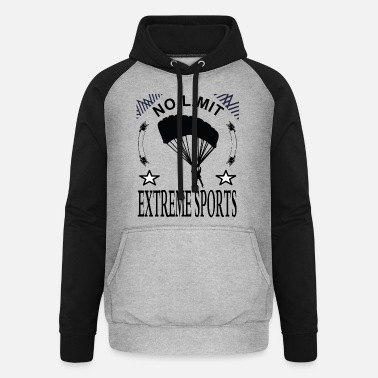 Parachute jump I love extreme sports gift - Unisex Baseball Hoodie