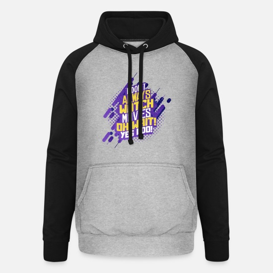 Gift Idea Hoodies & Sweatshirts - Movies - Unisex Baseball Hoodie heather grey/black