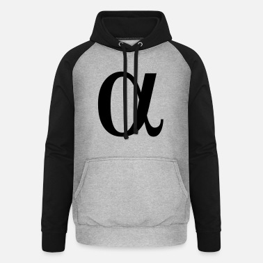 Greek Letters alpha greek letter - Unisex Baseball Hoodie