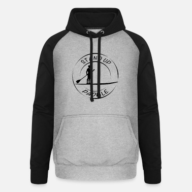 LOGO SUP Trend Stand Up Paddle Noir - Sweat à capuche baseball unisexe