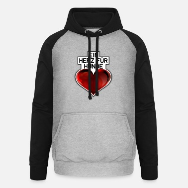 A HEART FOR DOGS - Unisex Baseball Hoodie