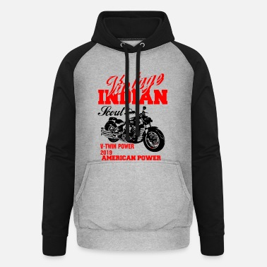 Indian Motorcycle vintage indian scout motorcycles - Unisex Baseball Hoodie