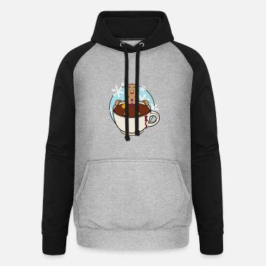 A hot chocolate bath - Unisex Baseball Hoodie