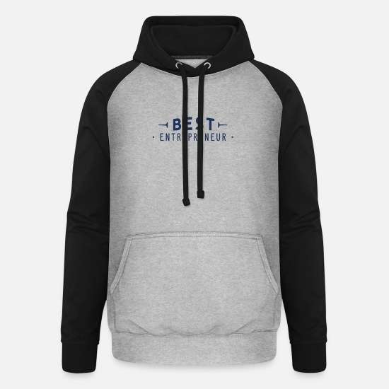 Self Employed Hoodies & Sweatshirts - Entrepreneur entrepreneur entrepreneur entrepreneur - Unisex Baseball Hoodie heather grey/black