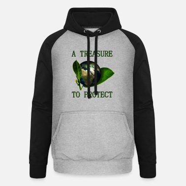 A Treasure to Protect (our Planet) - Unisex Baseball Hoodie