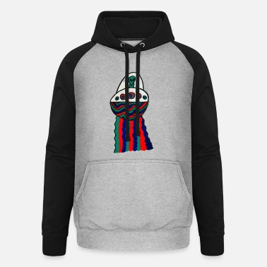 Space Ship alien space ship - Unisex Baseball Hoodie