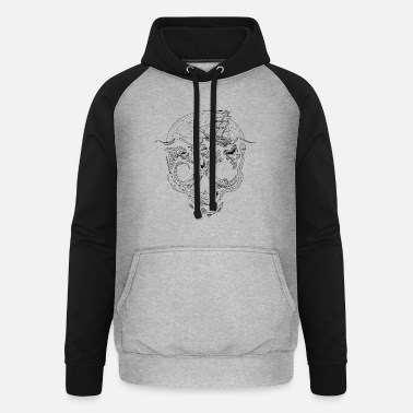 Black And White Collection V2 Below - Unisex Baseball Hoodie