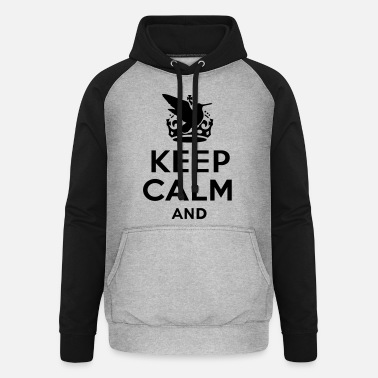Perros De Becada keep_calm_and_bird_hunt_text - Sudadera con capucha de béisbol unisex