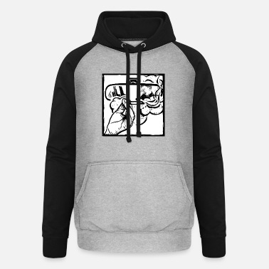 Child & smoker in the car. Please stop smoking. - Unisex Baseball Hoodie