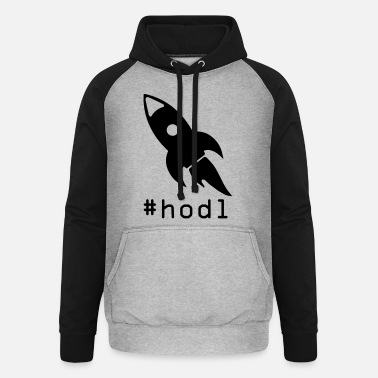 to the moon hodl - Unisex Baseball Hoodie