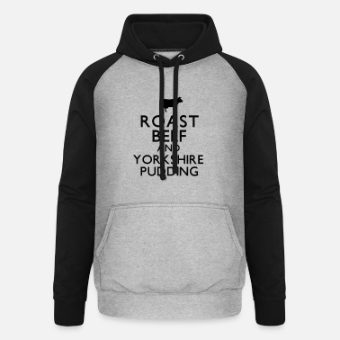 Roast Beef and Yorkshire Pudding - Unisex Baseball Hoodie