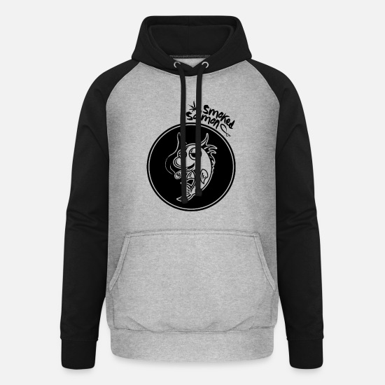Tuxedo Hoodies & Sweatshirts - Smoked Salmon - Unisex Baseball Hoodie heather grey/black