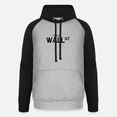 Wallstreet Copie noire de Wallstreet - Sweat à capuche baseball unisexe