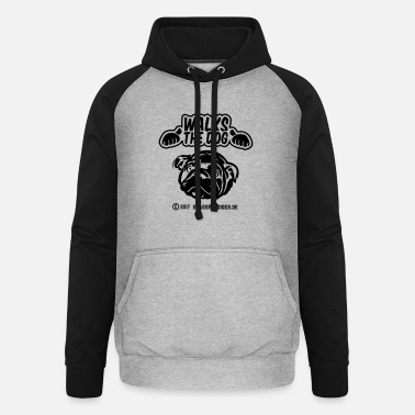 Walk The Dog Walks the dog - Unisex Baseball Hoodie
