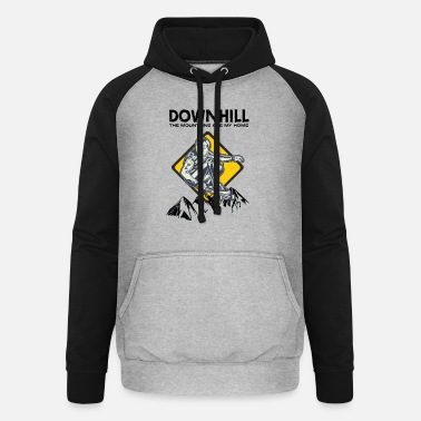 Downhill Downhill mountains - Unisex Baseball Hoodie