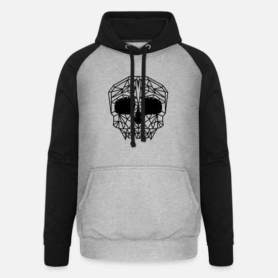 Boss Hoodies & Sweatshirts - A skull grid - Unisex Baseball Hoodie heather grey/black