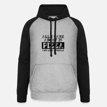 All I care about is... - Unisex Baseball Hoodie