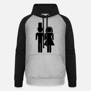 Couple Marriage Couple - Sudadera con capucha de béisbol unisex