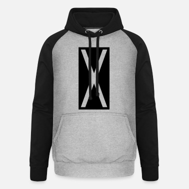 Castor Transport Rectangle X - Unisex Baseball Hoodie