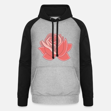Heart of the rose - Unisex Baseball Hoodie