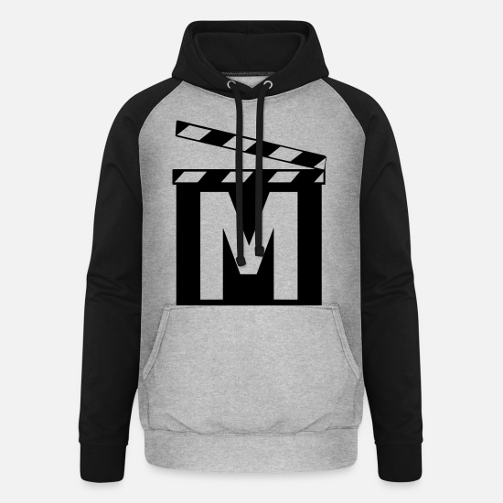 Movie Hoodies & Sweatshirts - Movie - Unisex Baseball Hoodie heather grey/black