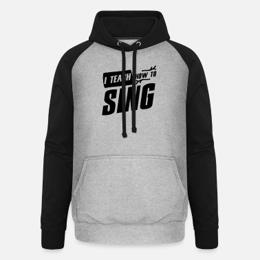 Lessons singing lessons - Unisex Baseball Hoodie