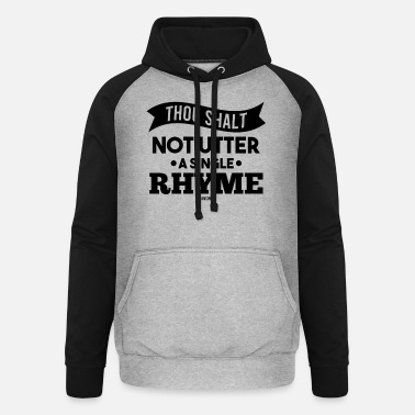 Norhymenorreasonday No Rhyme Nor Reason Day 01. September - Unisex Baseball Hoodie