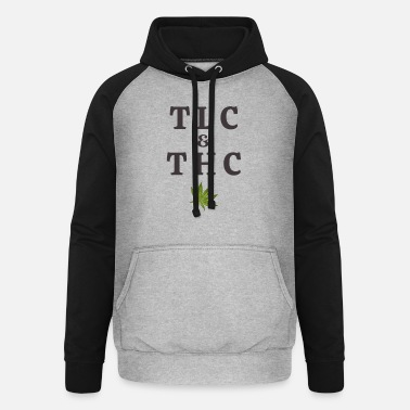 Tlc 420 Pot Leaf Graphic / Marihuana Plant Saying / - Unisex Baseball Hoodie