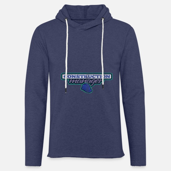 Gift Idea Hoodies & Sweatshirts - Site manager chief construction site house construction architect - Unisex Sweatshirt Hoodie heather navy