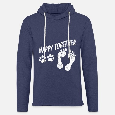 Together Cool Dogs Happy Animal Love Pet Gift - Unisex Sweatshirt Hoodie