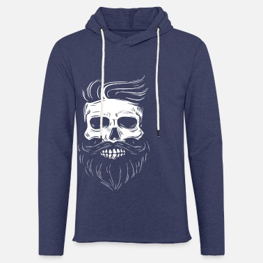 Hipster Hipster skull with hipster hair and mustache - Unisex Sweatshirt Hoodie