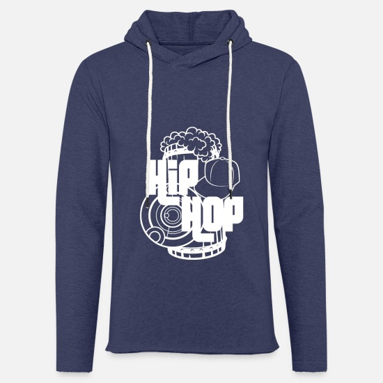 Hop Sweat-shirts - Hip hop - Sweat à capuche léger unisexe marine chiné